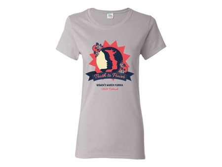 "Ladies ""Truth to Power"" Orlando 1.19.19 Women's March Florida T-Shirt"