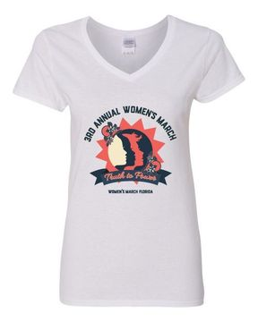 """Ladies V-Neck """"Truth To Power"""" Women's March Florida V-Neck Shirt Available in 2 Colors!"""