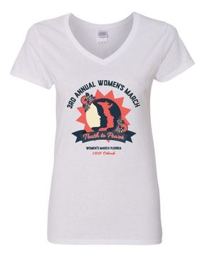 """Ladies V-Neck """"Truth To Power"""" Orlando 1.19.19 Shirt Available in 2 Colors!"""