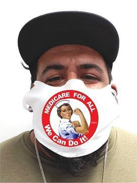 Rosie the Nurse Medicare For All Safety Face Mask