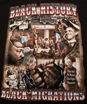 "New ""Celebrating Black Migrations"" Black History T-Shirts"