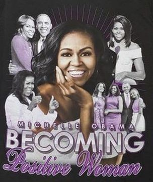 Michelle Obama Becoming Positive Women T-Shirts
