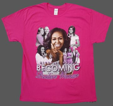 "Michelle Obama ""Becoming"" Positive Women T-Shirts Pink"