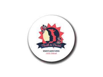 """""""Truth to Power"""" Orlando 1.19.19 Womens March Florida Button"""