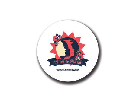 """""""Truth to Power"""" Women's March Florida Button"""