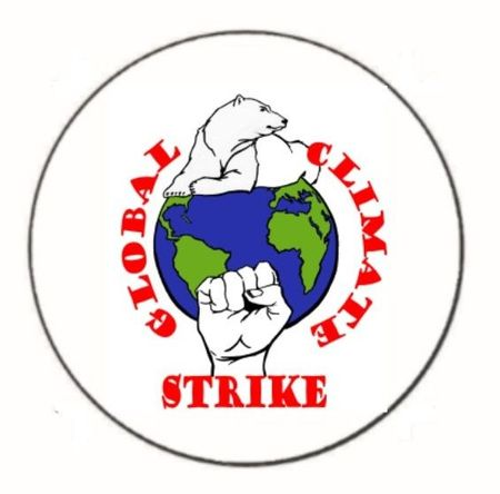 """Global Climate Strike 1.25"""" Button"""