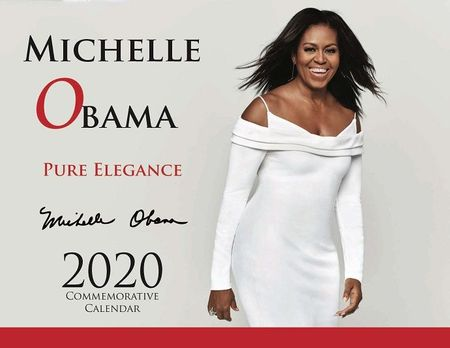 2020 Michelle Obama (Pure Elagance) 13 Month Commemorative Calendar