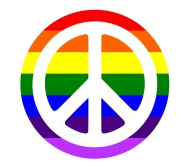 Peace Pride Button