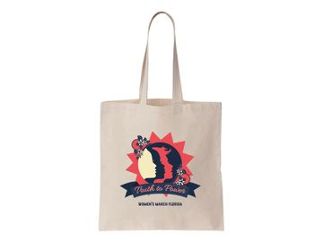 """""""Truth to Power"""" Women's March Florida Tote Bag"""