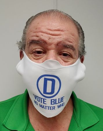 VOTE BLUE - NO MATTER WHO PACE MASK
