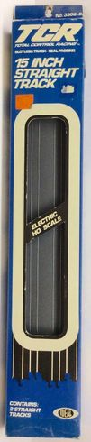"""Tyco TCR 3306-8 15"""" Straight Track (2) Slotless HO Scale"""