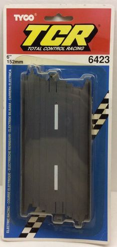 """Tyco TCR 6423 6"""" Straight Track Slotless HO Scale"""