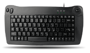 Adesso ACK-5010 – Wired Mini-Trackball Keyboard (Black USB)