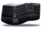 Adesso Contoured Ergonomic Keyboard with Built-In Touchpad (USB)