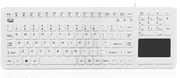 Adesso SlimTouch™ 270 – Wired Antimicrobial Waterproof Touchpad Keyboard (White)