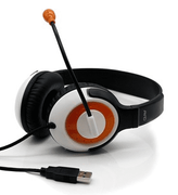Avid AE-55 USB Headphone with Carrying Case 12 Pack Orange