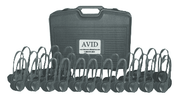 Avid AE-711 On-Ear Headset (Classroom 30-Pack with Case) (Black)