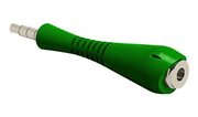 Avid Fishbone TRRS Adapter with 3.5mm Pin and Jack - Green