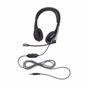 Califone 1025MT NeoTech Series Headset, 3.5mm stereo plug, unidirectional inline microphone