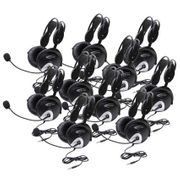 Califone 4100 Series Stereo Headset with To Go Plug - 10 Pack - without Case