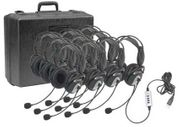 Califone 4100 Series USB Stereo Headset - 10 Pack - with Case