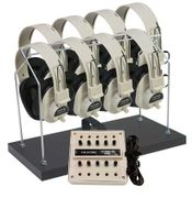 Califone 8-Position Non-Powered Stereo Listening Center with Headphone Rack