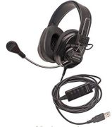 Califone Deluxe Stereo Headset  - Black - with USB Plug