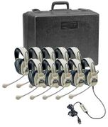 Califone Deluxe Stereo Headset with USB Plug - 10 Pack - with Case