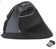 DELUX 2.4G Small Vertical Mouse with 6 Buttons