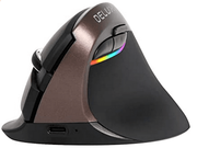 Delux Rechargeable Silent Ergonomic Mouse, Wireless Vertical Mouse