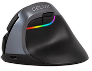 DELUX Wireless Vertical Mouse Rechargeable