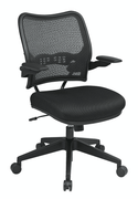 Office Star Deluxe Dark AirGrid Back Chair with Black Mesh Seat