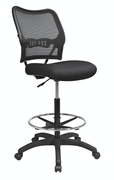 Office Star Deluxe Dark AirGrid Back Drafting Chair with Black Mesh Seat