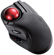 ELECOM Wired Trackball Mouse Larger, Ergonomic Design, 8-Button Function