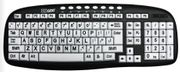 EZsee USB Large Print Low Vision, Ergonomic Multi - Media Keyboard