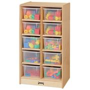 Jonti-Craft® 10 Cubbie-Tray Mobile Unit - without Trays