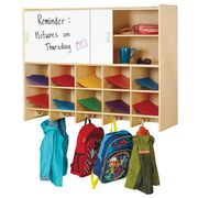 Jonti-Craft® 10 Section Wall Mount Coat Locker with Storage – without Cubbie-Trays