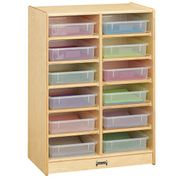 Jonti-Craft® 12 Paper-Tray Mobile Storage - with Clear Paper-Trays