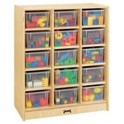 Jonti-Craft® 15 Cubbie-Tray Mobile Unit – with Clear Trays