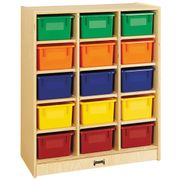 Jonti-Craft® 15 Cubbie-Tray Mobile Unit – with Colored Trays