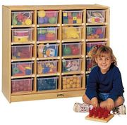 Jonti-Craft® 20 Cubbie-Tray Mobile Unit - with Colored Trays