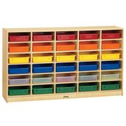 Jonti-Craft® 30 Paper-Tray Mobile Storage - with Colored Paper-Trays