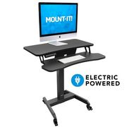 Mount-It! Electric Mobile Standing Desk