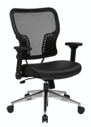 Office Star Air Grid Back and Bonded Leather Seat Chair