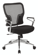 Office Star Air Grid� Back and Padded Mesh Seat Chair