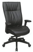 Office Star Contemporary Leather Executive Chair