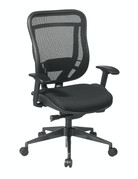 Office Star Executive High Back Chair w/ Black Mesh seat