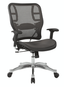 Office Star Grey Vertical Mesh Seat and Back Chair