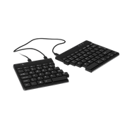 R-Go Split Ergonomic Keyboard, QWERTY (US), Black, Wired