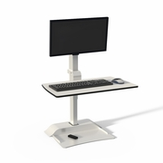 Safco Rise Electric Sit/Stand Desktop with Single Monitor Arm